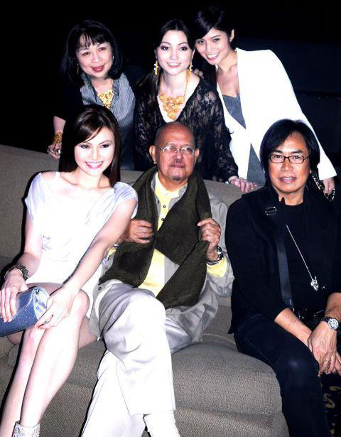 Barge Ramos (seated, right) with designer Christian Espiritu (seated, center) (Photo courtesy of Barge Ramos)
