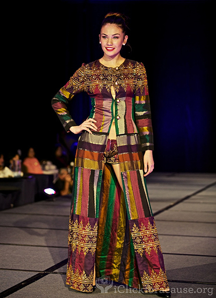 Ramos' clothes involve native fabrics with ethnic and modern stylings  (Photo by iClickforacause.org)