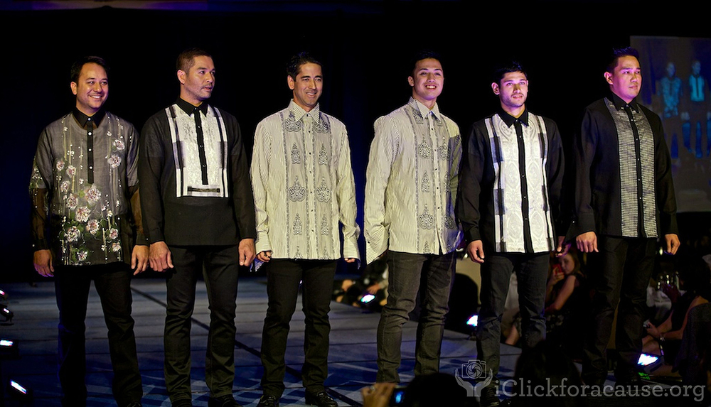 "Ramos' famous barong designs modeled at PIA's ""Holiday Haute Couture XII"" (Photo by iClickforacause.org)"