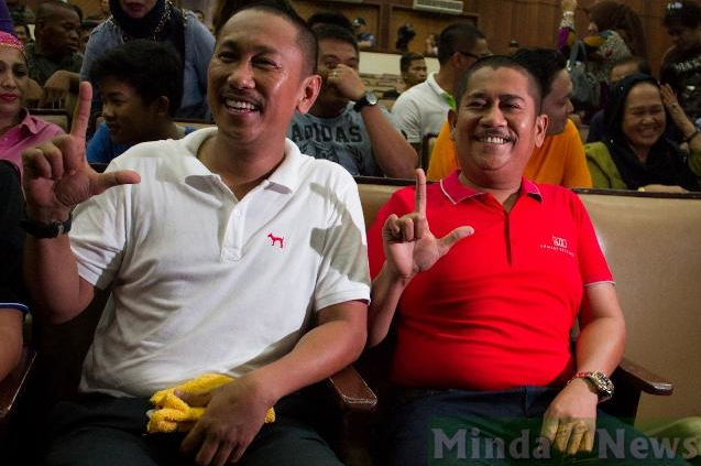 "Maguindanao Governor Esmael ""Toto"" Mangudadatu and his brother, Congressman Zajid ""Dong"" Mangudadatu  (Source: Minda News)"