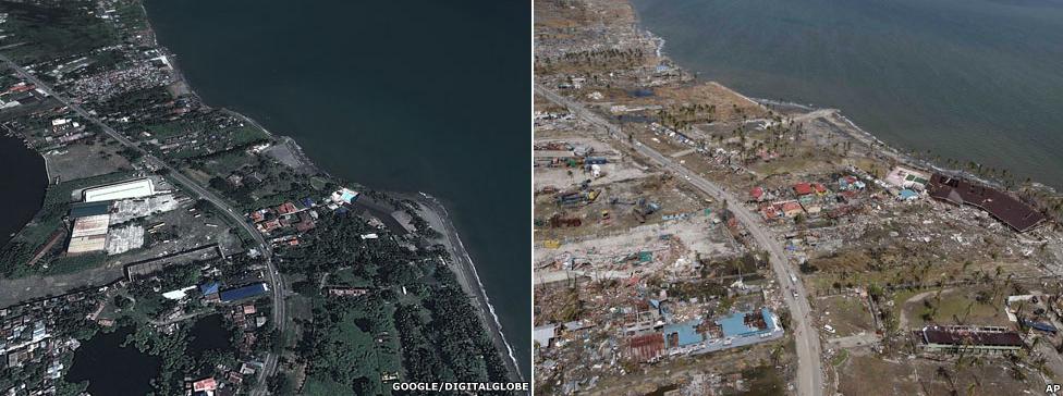 Tacloban coast (Source: bbc.co.uk)