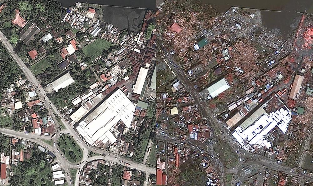 Tacloban via aerial photography (Source: abc.net.au)