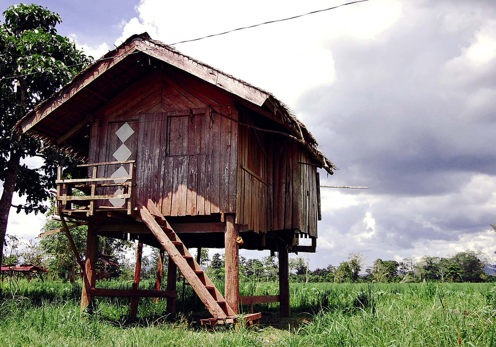 We walked over to the town of Nueva Era in Agusan del Sur to look for wild crocodiles and interview locals. Similar to riverside communities in Laos and Cambodia, many houses near the marsh are built on stilts—some as high as 20 feet. In these parts, people take floods and crocodile attacks seriously.  (Photo by Gregg Yan)