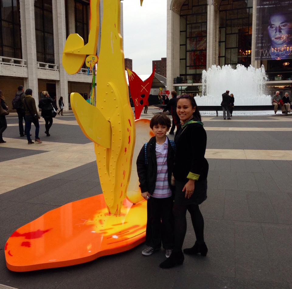 Tricia Capistrano and her son, Emil