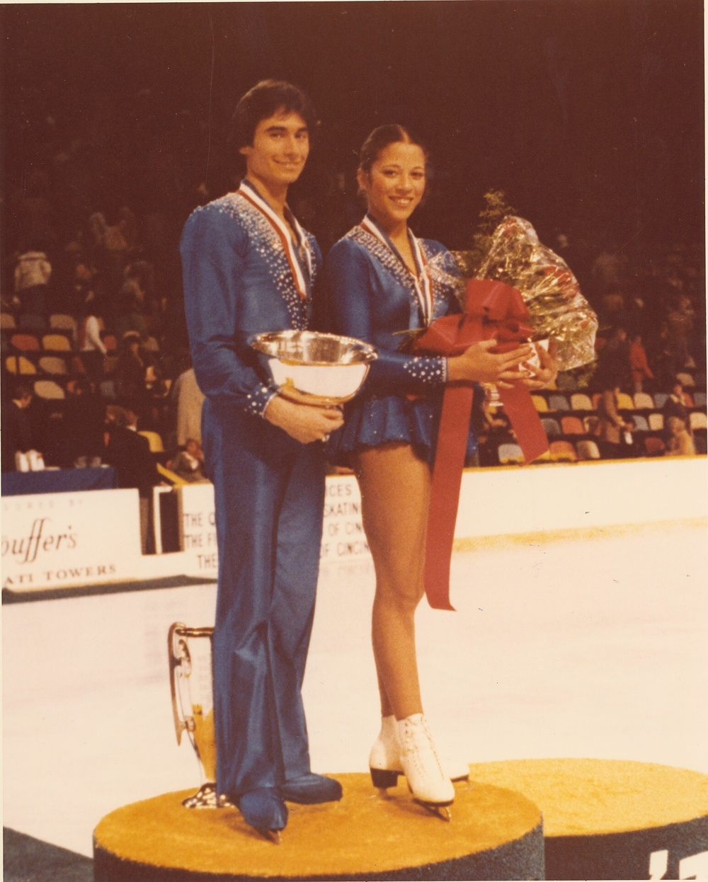 Lake Placid 1980 - Tai Babilonia (right) and Randy Gardner competed at Lake Placid 1980; here as the 1979 World Pairs champions.   (Source: randygarnermemoirs.wordpress.com)