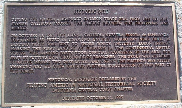 Morro Bay commemorative plaque (Photo courtesy of Rodel Rodis)