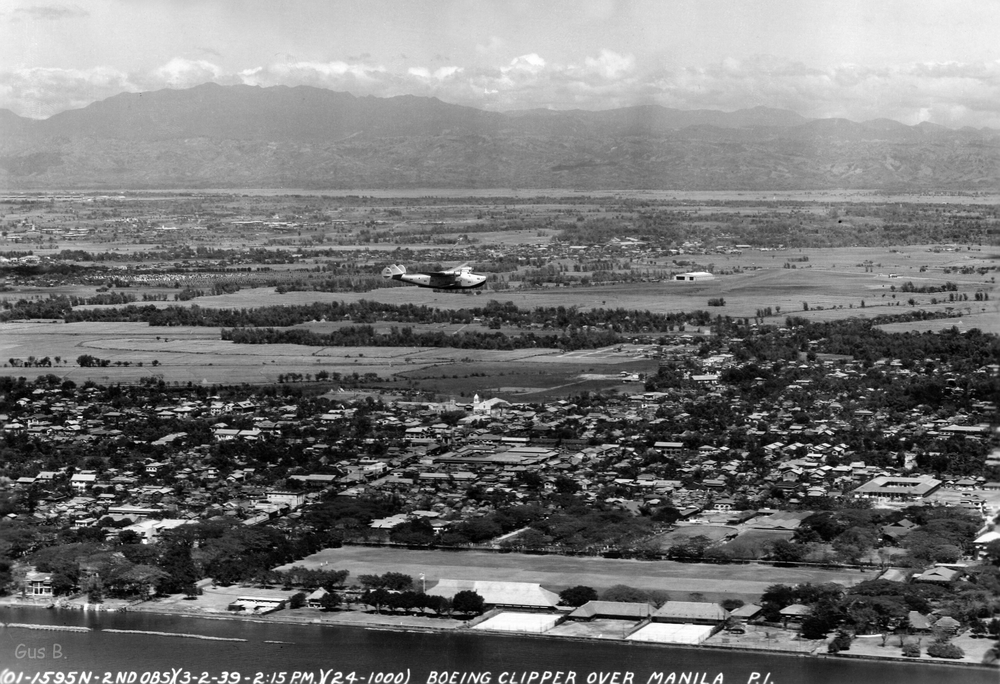 PanAm Clipper flying over Manila (Source: manilanostalgia.com)