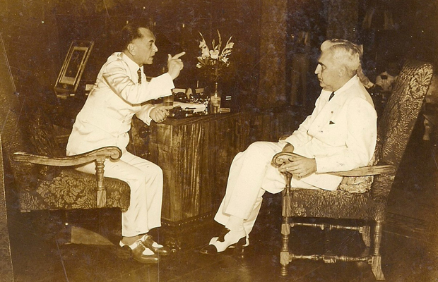 Pres. Manuel Quezon and Paul McNutt (Source: manilanostalgia.com)