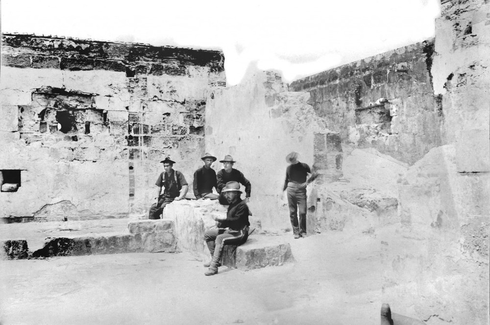 Fort Abad interior, 1898 (Source: manilanostalgia.com)