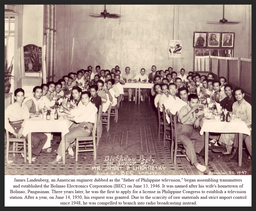 Bolinao Electronics Corporation party. My mom is in the last row on the right, second from the end with her head sticking out. (Source: manilanostalgia.com)