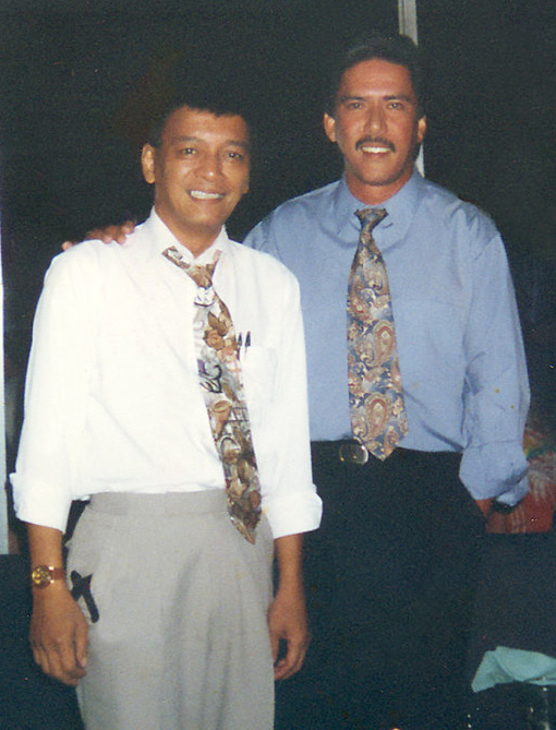 Naldi Castro with buddy Tito Sotto, before he had his strokes (Photo courtesy of Corito Fiel)