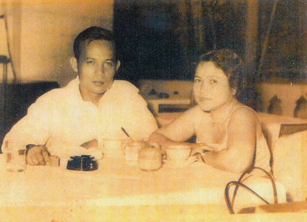 Consuelo Dancel on a date with her then-future husband, Domingo Sison.  (Photo courtesy of the Sison family)
