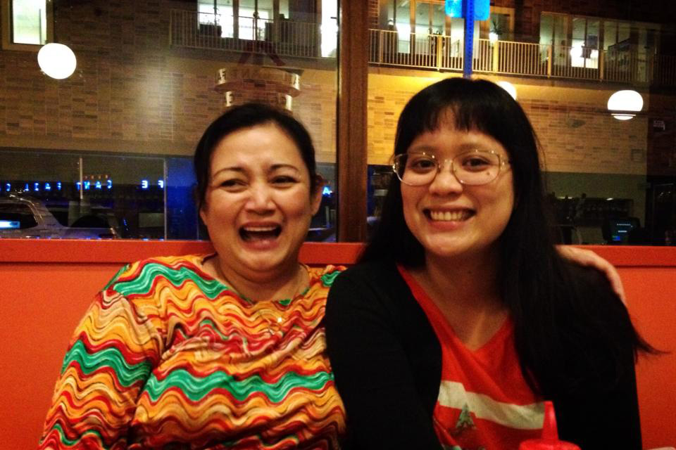 Tina Taruc (left) raised daughter Tia Taruc Canlas to be free from fear. (Photo courtesy of Tia Taruc Canlas)