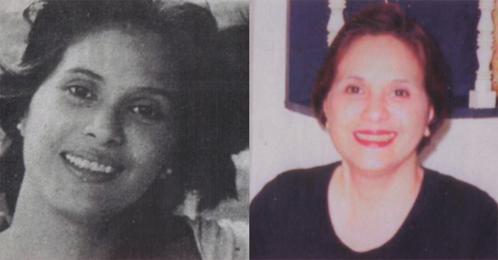 Maita Gomez, during her activist days (left) and right after finishing her college degree at 50  (Source: Filipinas Magazine, March 2005)