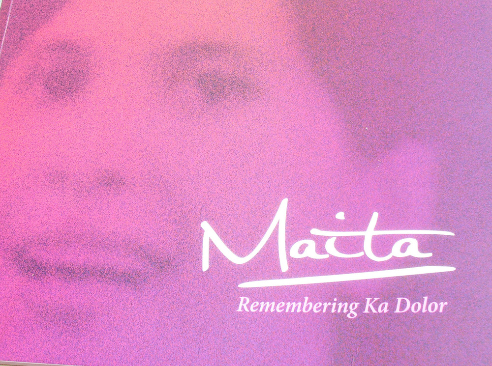 "Maita Gomez's book ""Remembering Ka Dolor"""