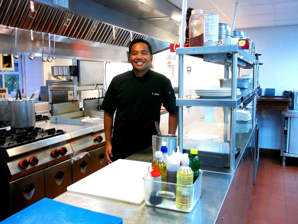 In Chef Erwin Joven's kitchen at Cotton House, Mustique  (Photo courtesy of Chef Erwin Joven)