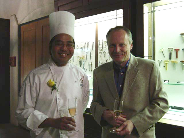 Chef Erwin Joven's graduation day at the Culinary Institute of America-Greystone with Chef Lars Kronmark (right)  (Photo courtesy of Chef Erwin Joven)