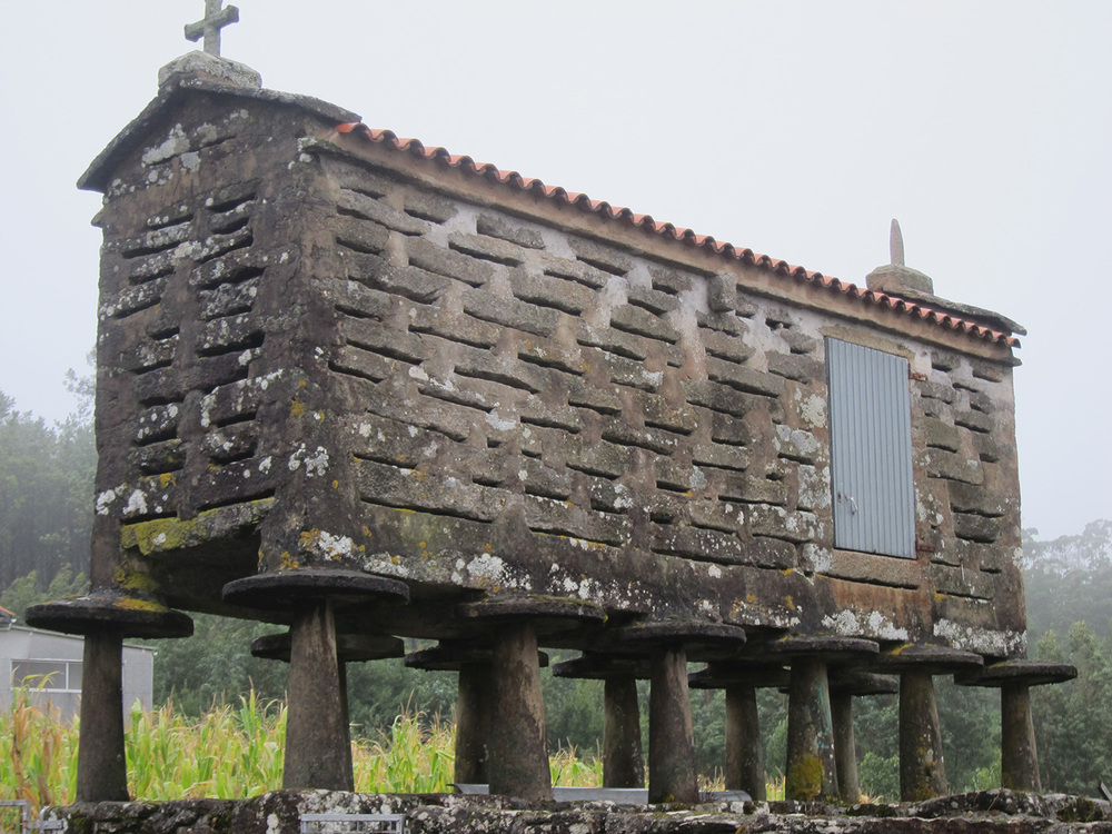 One of the ancient granaries that dot the Galician landscape (Photo courtesy of Patricia Araneta)