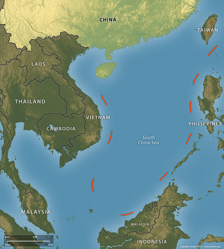 China's Nine Dash Line (Source: Stratfor)