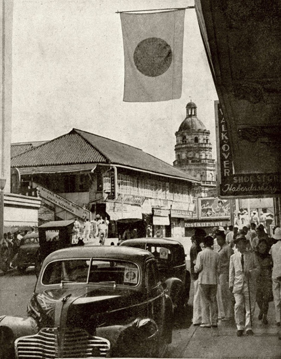 Life on the Escolta continues during the Japanese occupation c.1943 (Source: Manila Nostalgia)