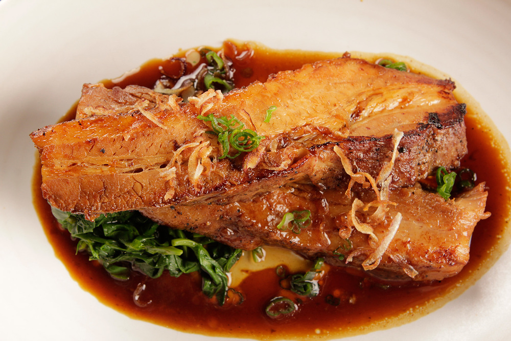 Chef Rodelio Aglibot's Adobo Braised Pork Belly (Photo by Kenny Kim)