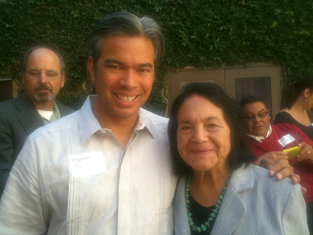 California Assemblymember (D) Rob Bonta and United Farm Workers co-founder Dolores Huerta  (Source: facebook.com)