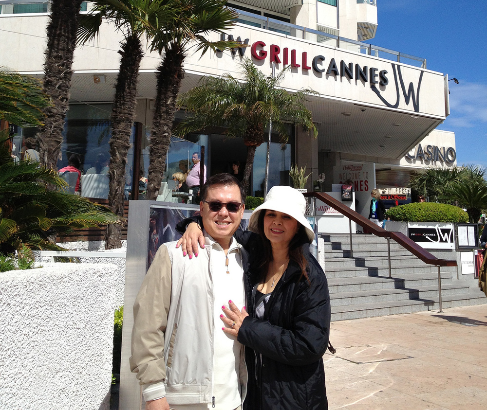 Ralph and Susan Reid Moore in Cannes (Photo courtesy of Susan Reid Moore)