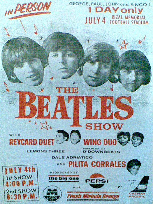 The Beatles concert poster (Source; manilaconcertscene.tumblr.com)