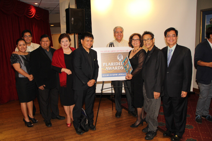 The 2013 Plaridel Awards (L-R): Deputy Consul General and Mrs. Jaime Ascalon, Arnold Pedrigal, Mrs. Teresita Paynor, Emil Guillermo, Prof. Oscar Penaranda, Esther Chavez, Robert Henry and Rene delos Santos, Tourism Director for San Francisco