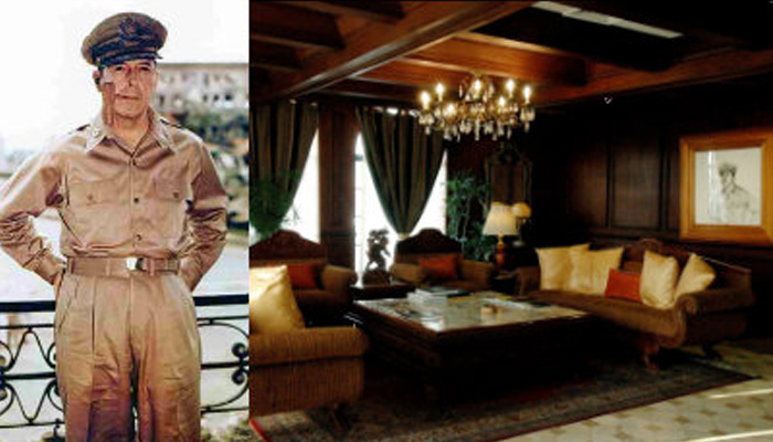 Gen. Douglas MacArthur and the MacArthur Suite at Manila Hotel (Source: filipiknow.net)