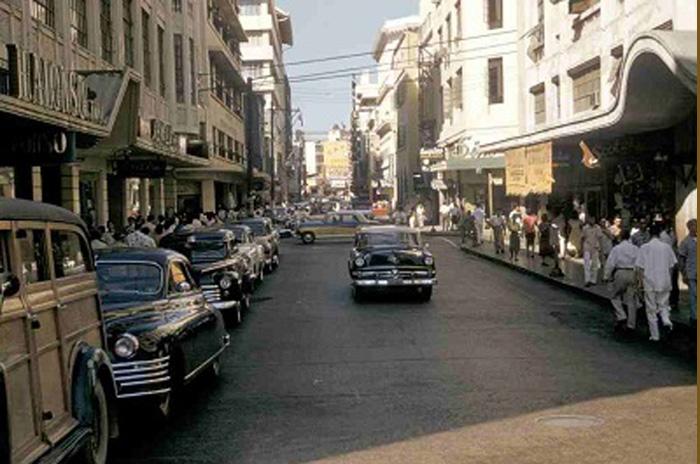 Escolta Street in the mid-1950s (Photo by Lou Gopal of Manila Nostalgia)
