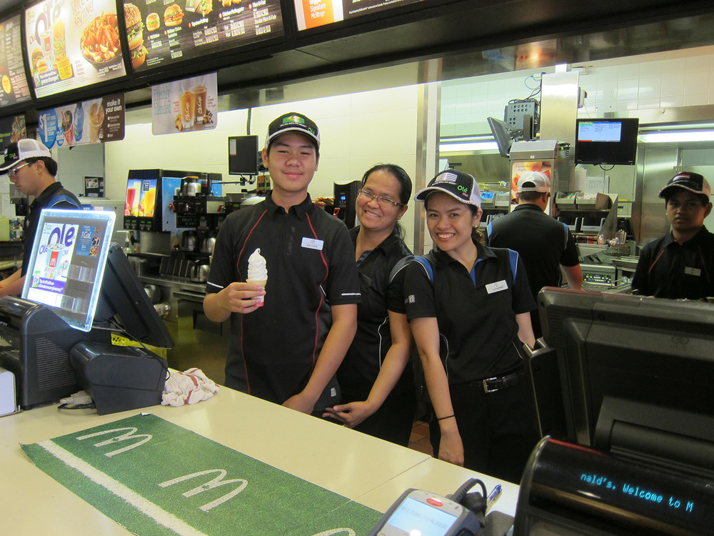 This McDonald's store in Banff, a resort town in Alberta, Canada, is run mostly by Filipinos. (Photo by Mona Lisa Yuchengco)
