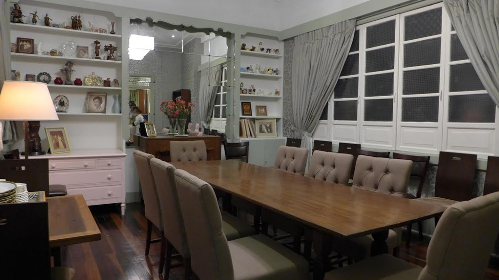 The dining room was formerly the bedroom of Amy's parents - Drs. Augusto S. Besa and Solita Camara-Besa. (Photo by Tricia Tensuan)
