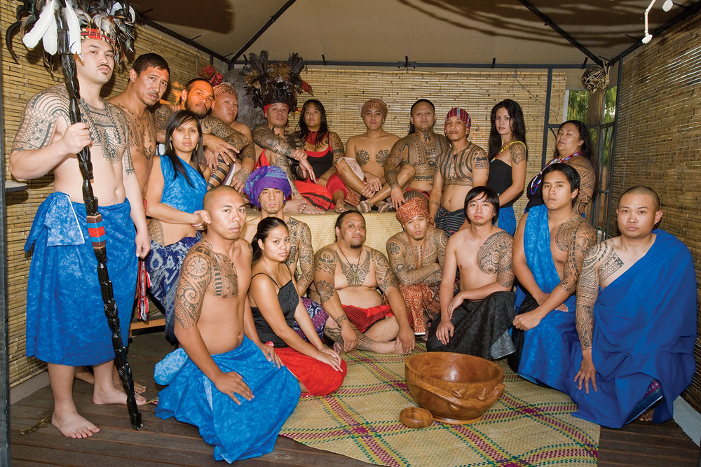 Members pose at the tribe's shrine in Buena Park, California (Photo by Roger Carter)
