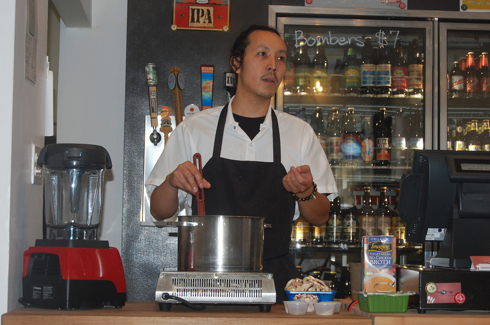 Chef Tim Luym at the Pop-Up Cafe in San Francisco (Photo by Raymond Virata)