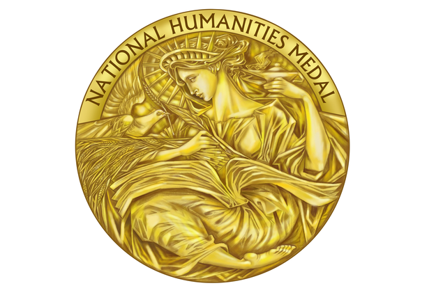 Paul Balan's winning medal design (Source:humanitiesmedaldesign.challengepost.com)