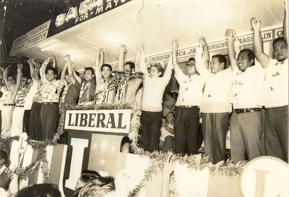 The Liberal Party candidates at their  miting de avance  (Source: pcdspo.gov.ph)