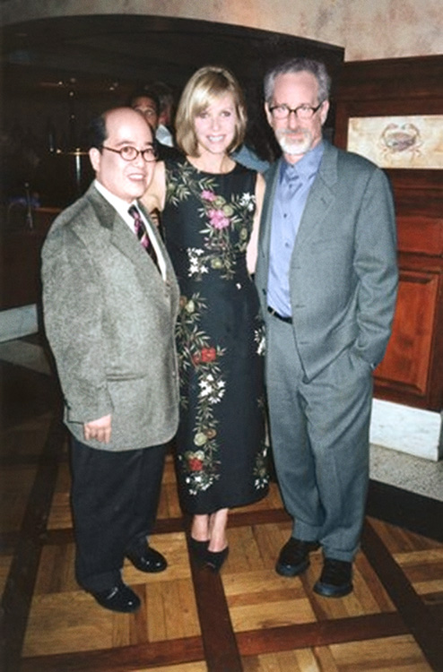 Fritz Friedman with actress Kate Capshaw and her husband, Steven Spielberg. (Photo courtesy of Fritz Friedman)