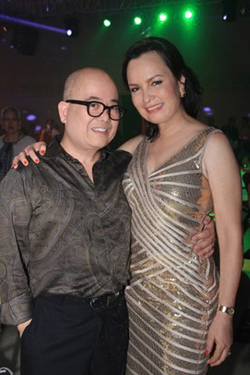Fritz Friedman and 1973 Miss Universe Margie Moran Floirendo at her 60th birthday party last October, 2013. (Photo courtesy of Fritz Friedman)