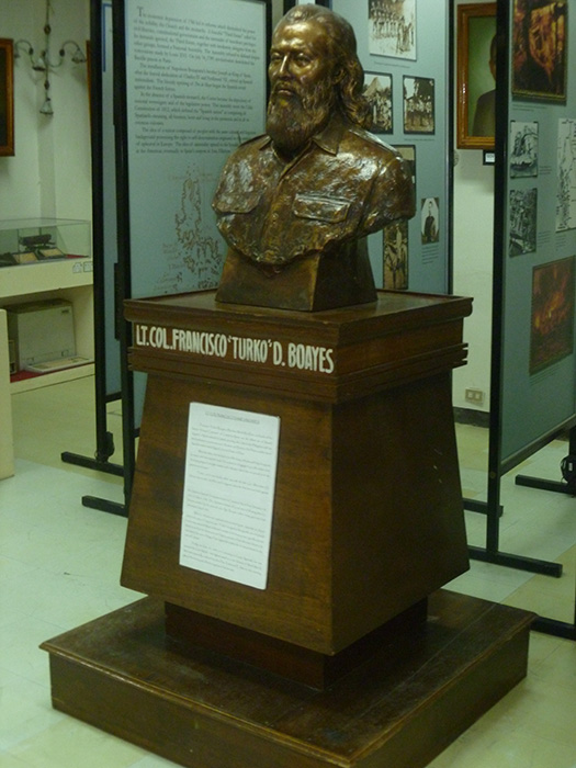 Lt. Col. Francisco D. Boayes at the Museo Balawan (Photo by Excel Dyquiangco)