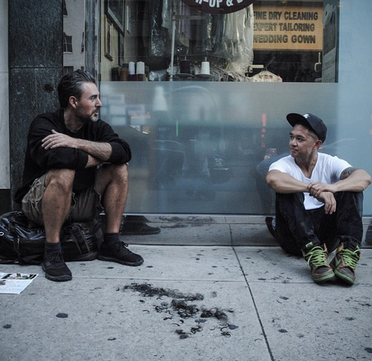 "When I first approached Joe, 40, he was banging the back of his head against the wall. He told me he felt like a ""dead corpse."" After a supreme pizza and a haircut, but most of all, some words of encouragement from new friends, he no longer felt that way. (Photo by Devin Masga)"