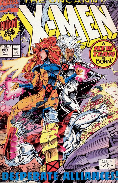 Uncanny X-Men #281, cover and art by Whilce Portacio