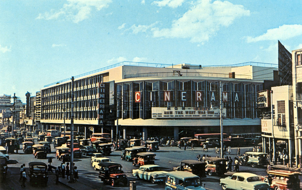 The Roman Super Cinerama theater was the most luxurious move house in Asia when it opened at the corner C.M. Recto and Quezon Blvd. in late 1963. Like most Manila film theaters today, it is nothing now but a shopping arcade and a mere shadow of its formerly glorious self. (Source: www.flickr.com/The Commons)