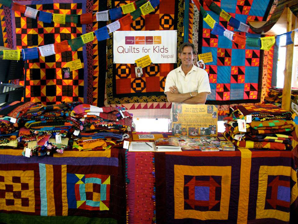 The quilts are displayed and sold at the Quilts for Kids booth at the Smithsonian's annual Folklife Festival held on the National Mall in July, an ideal platform to exhibit the handmade patchwork quilts. (Photo courtesy of Evelyn Domingo-Barker)