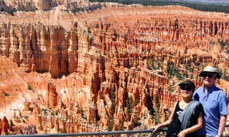 The Colborns at Bryce National Park, Utah (Photo coutesy of Carolina Esguerra Colborn)
