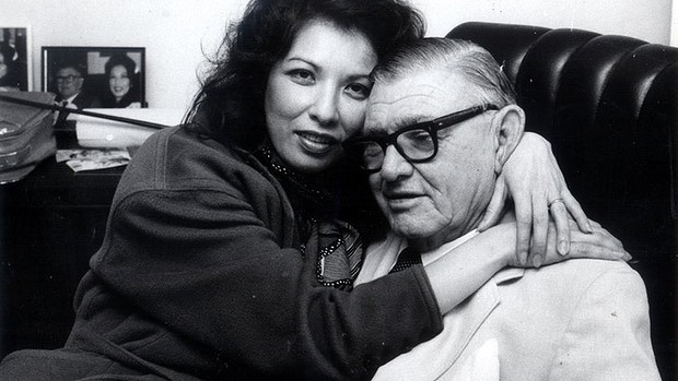 In happier times, Rose Lacson and her first Australian husband, iron-ore mining magnate Langley George Hancock. There was a 39-year difference between them. They were married from 1985 until the time Hancock died in 1992.
