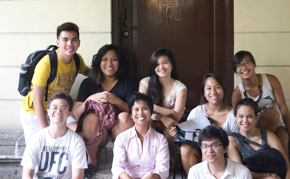The author (seated left) along with Kaya Collaborative fellows on their trip to the Philippines (Photo by Erlinda Delacruz)
