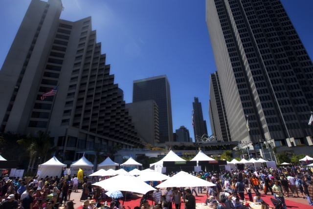 Themed food tents brought Filipino Food to the heart of San Francisco (Photo courtesy of Ron Quesada)