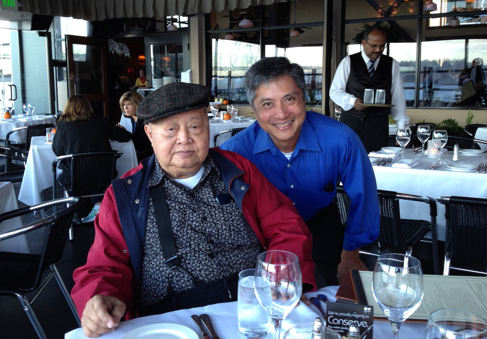 F. Sionil Jose (left) and Benjamin Pimentel (Photo courtesy of Benjamin Pimentel)