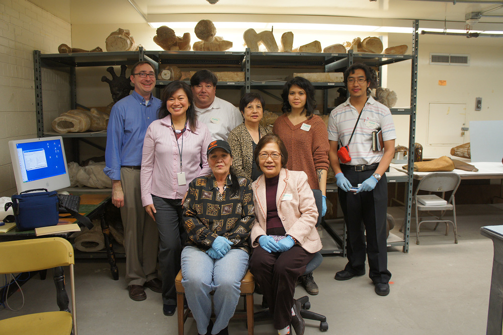 The co-curation team in the vaults  (Photo by Dr. Almira Astudillo Gilles)